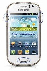 Samsung Galaxy Fame S6810 hard reset, сброс настроек до заводских