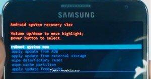 Samsung Galaxy Note 3 N9000, N9005, N9002 перезагрузка