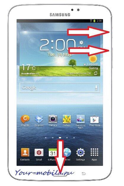 Samsung Galaxy Tab 3 7.0 сброс настроек