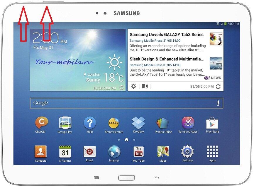 Samsung Galaxy Tab 3 10.1 P5210,P5200 Hard Reset, Сброс настроек
