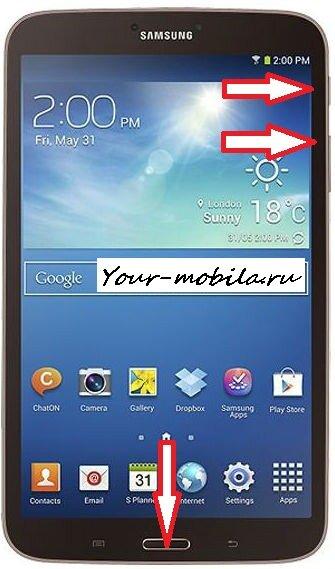Samsung Galaxy Tab 3 8.0 hard reset сброс настроек