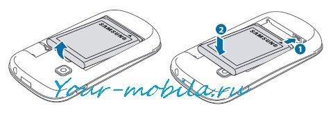 Samsung GT-S5310 Galaxy Pocket Neo как снять батарею