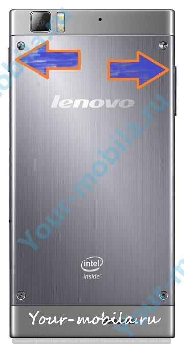 Lenovo K900 hard reset, сброс настроек, убрать графический ключ