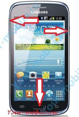 Samsung Galaxy Core GT-I8262 hard reset, сброс настроек, снять графический ключ