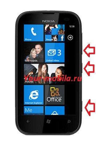 Nokia Lumia 510 hard reset, сброс настроек, убрать пароль